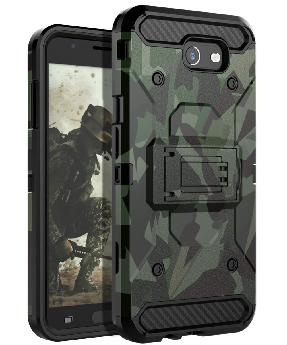 best website f7172 68b25 Amazon.com: HUATRK Samsung Galaxy J7 2017 Case Man Armor Kickstand ...