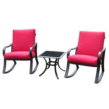 Courtyard Creations Rus0097 Bantry Bay Seating Set Steel Frames 3 Pc Walmart Com Outdoor Tables And Chairs Patio Furniture Sets Seating