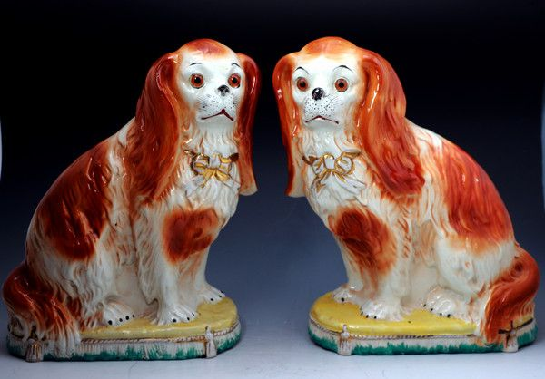 Find Art Antiques Antique Staffordshire Pottery Of John Howard Staffordshire Dog Cavalier King Charles Dog King Charles Dog