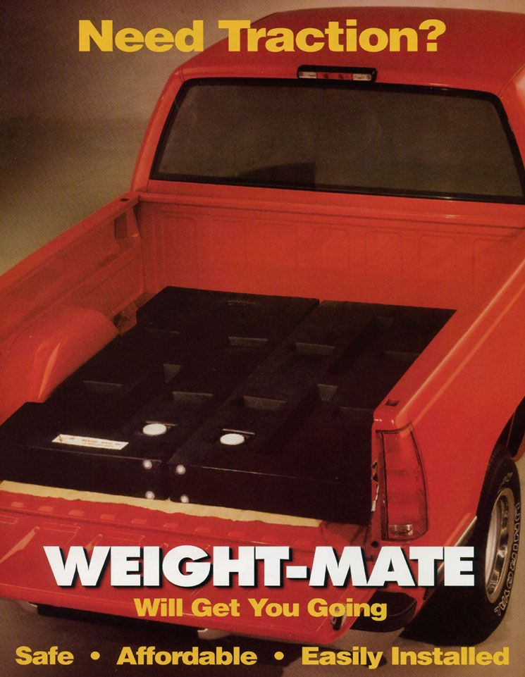 Weight Mate Inclement Weather Ballast Traction For Pick Up Trucks Winter Truck Truck Bed Trucks