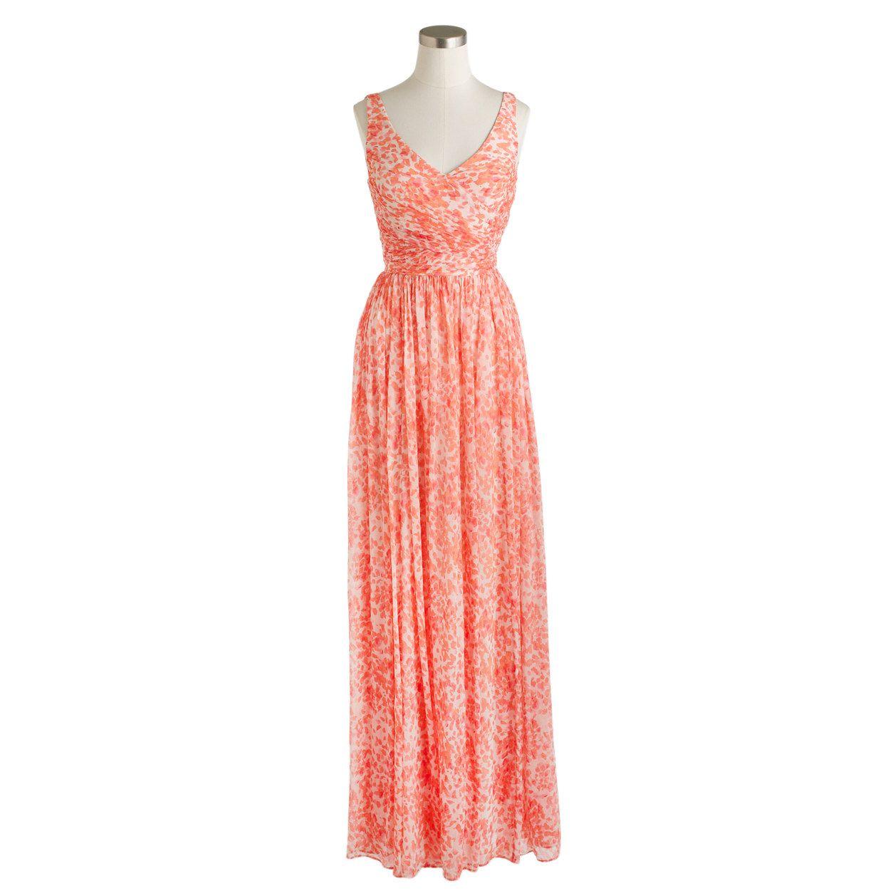 Heidi long dress in watercolor silk chiffon products