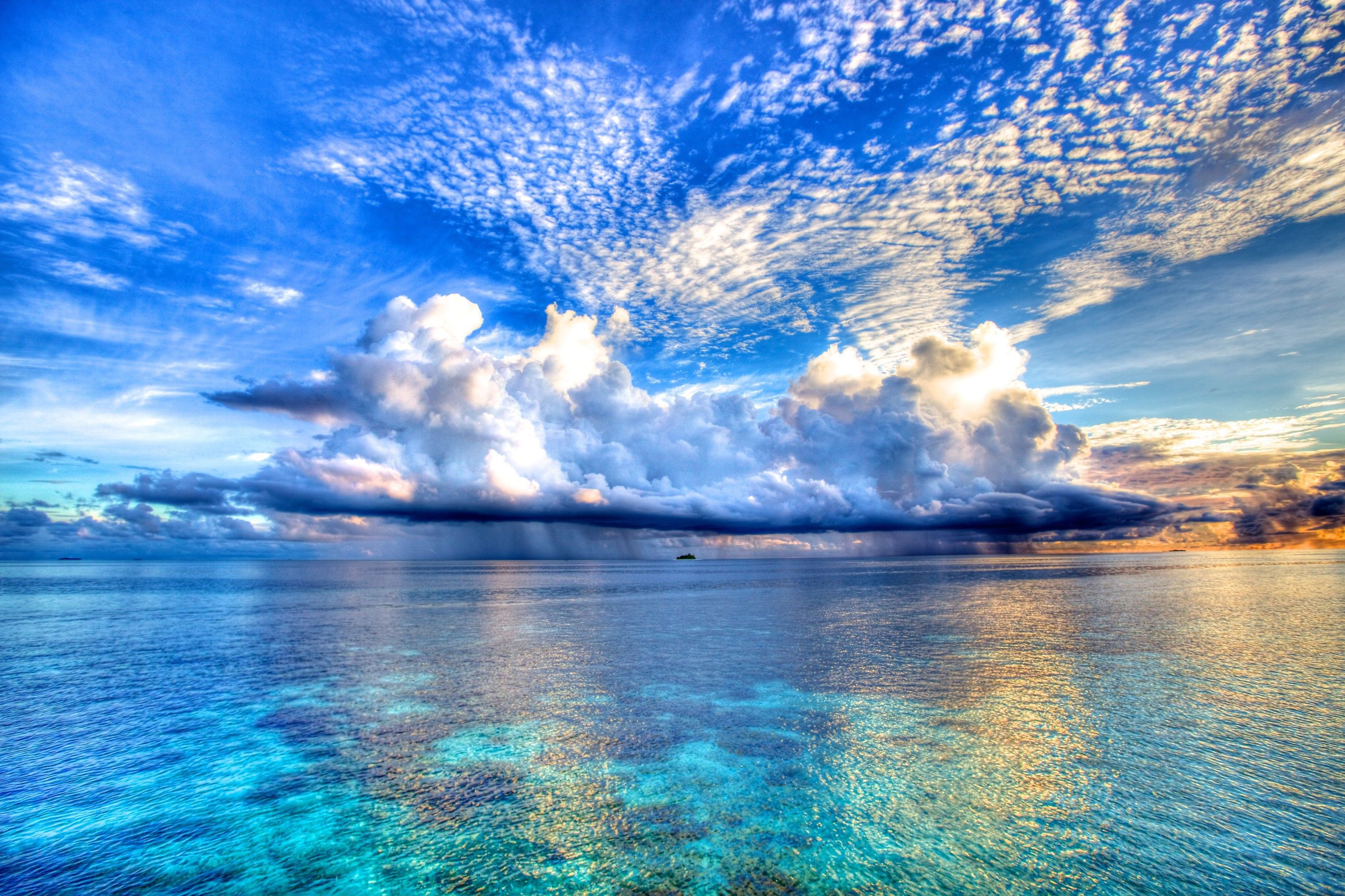 Wet Sky Life Colors Photography Beautiful Ocean Blue Sea Tropical Fantasy Reflect Clouds Nature Water Colorful Beach Reflecti Beautiful Nature Scenery Pictures