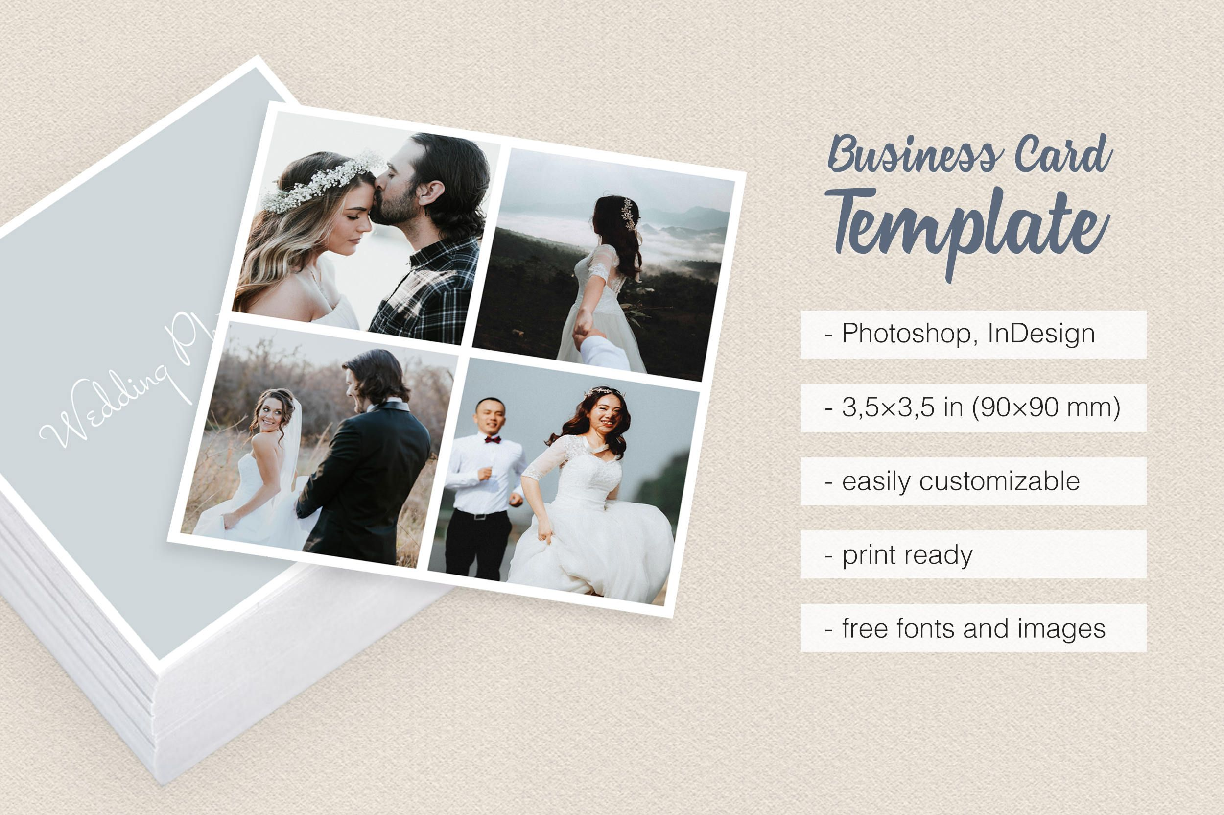 Wedding photographer square collage business card template multiple wedding photographer square collage business card template multiple photos with borders frames colourmoves