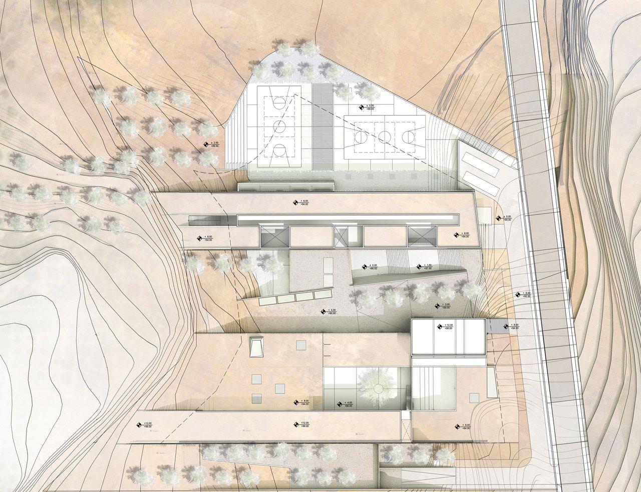 Crete innovative bioclimatic european school complex 2nd place entry