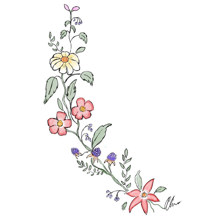 easy cute drawings of flowers - photo #26