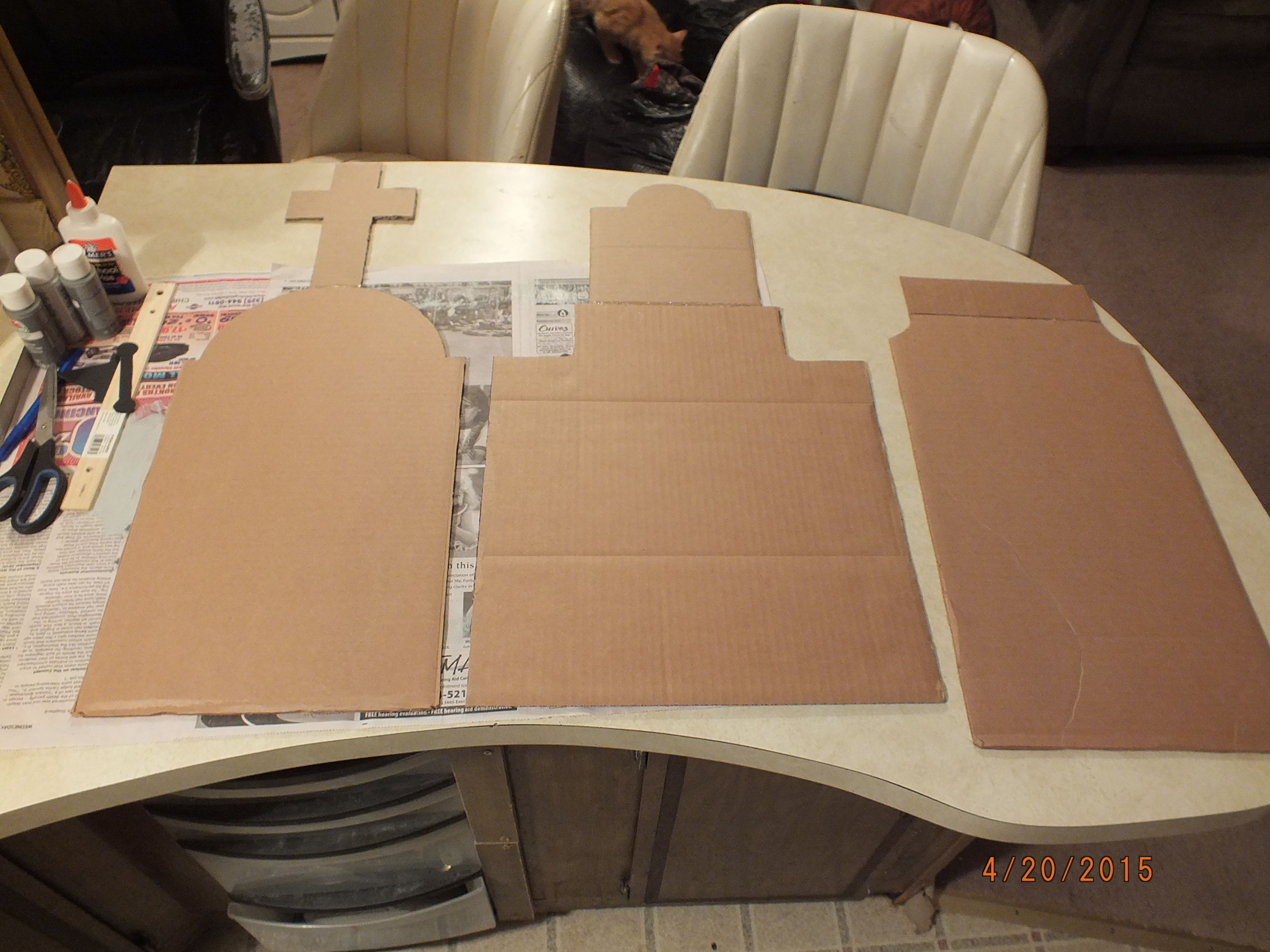 Tombstone Templates Cut Out Of Cardboard Halloween Decor