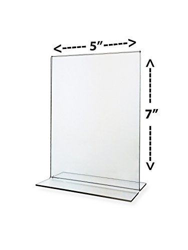 Nudell 5 X 7 Table Top Double Sided Tbase Freestanding Sign Display Frame Clear Check Out The Image By Visiting The L Acrylic Sign Sign Holder Clear Acrylic