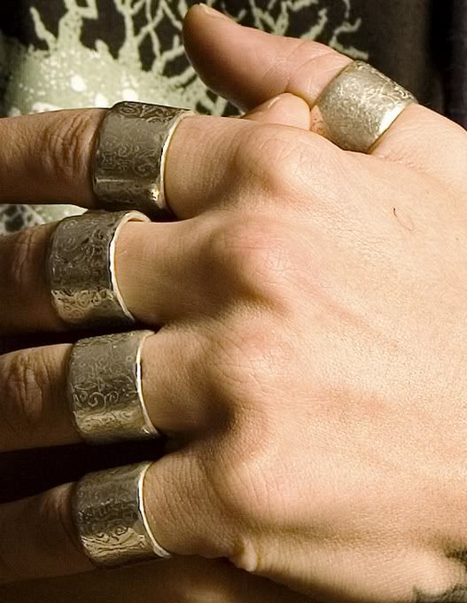 Ville Valo hand with rings