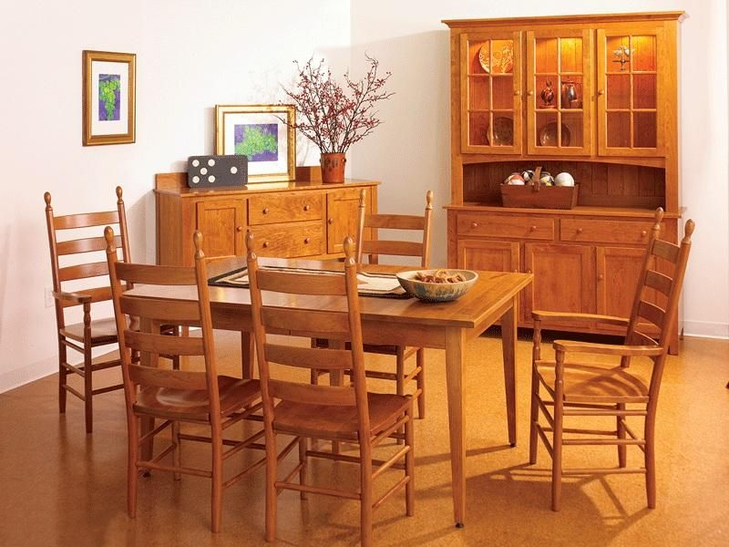 Superieur Amish Classic Shaker Extension Dining Room Table   Keystone Collection