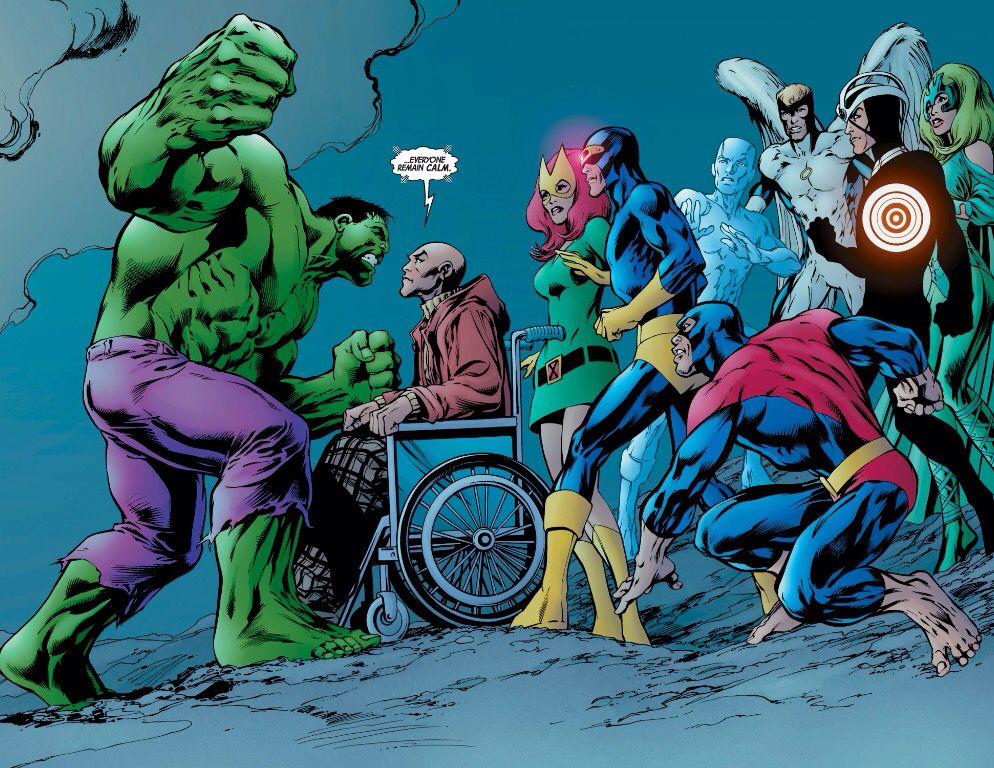 Hulk Vs X Men By Alan Davis Marvel Comics Comics Comics Anime