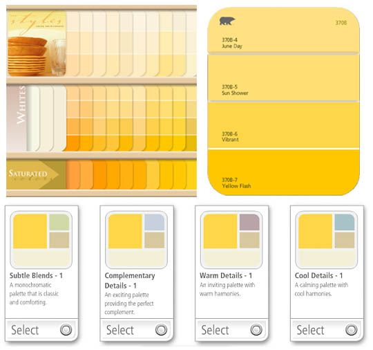 Hot tip behr 39 s virtual color center room kitchen paint for Paint charts for kitchens