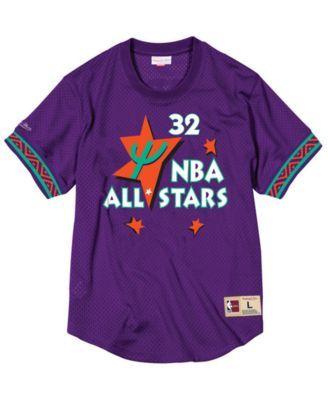 f23db9d6fd67 Mitchell   Ness Men s Shaquille O Neal Nba All Star 1995 Mesh Crew Neck  Jersey