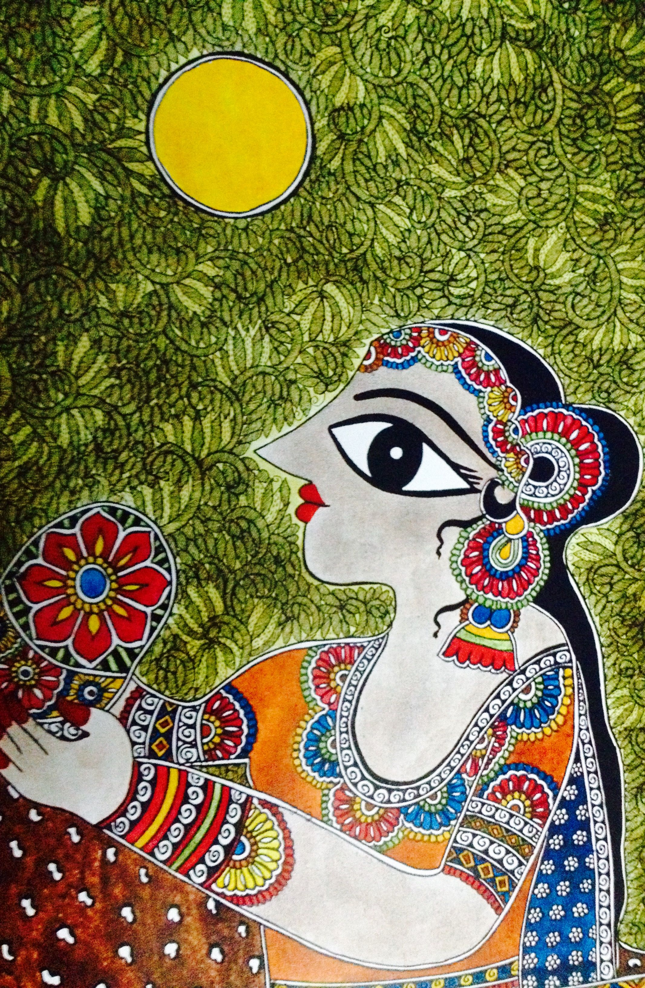 HAPPY 2017 !! | Madhubani art | Diy interior painting