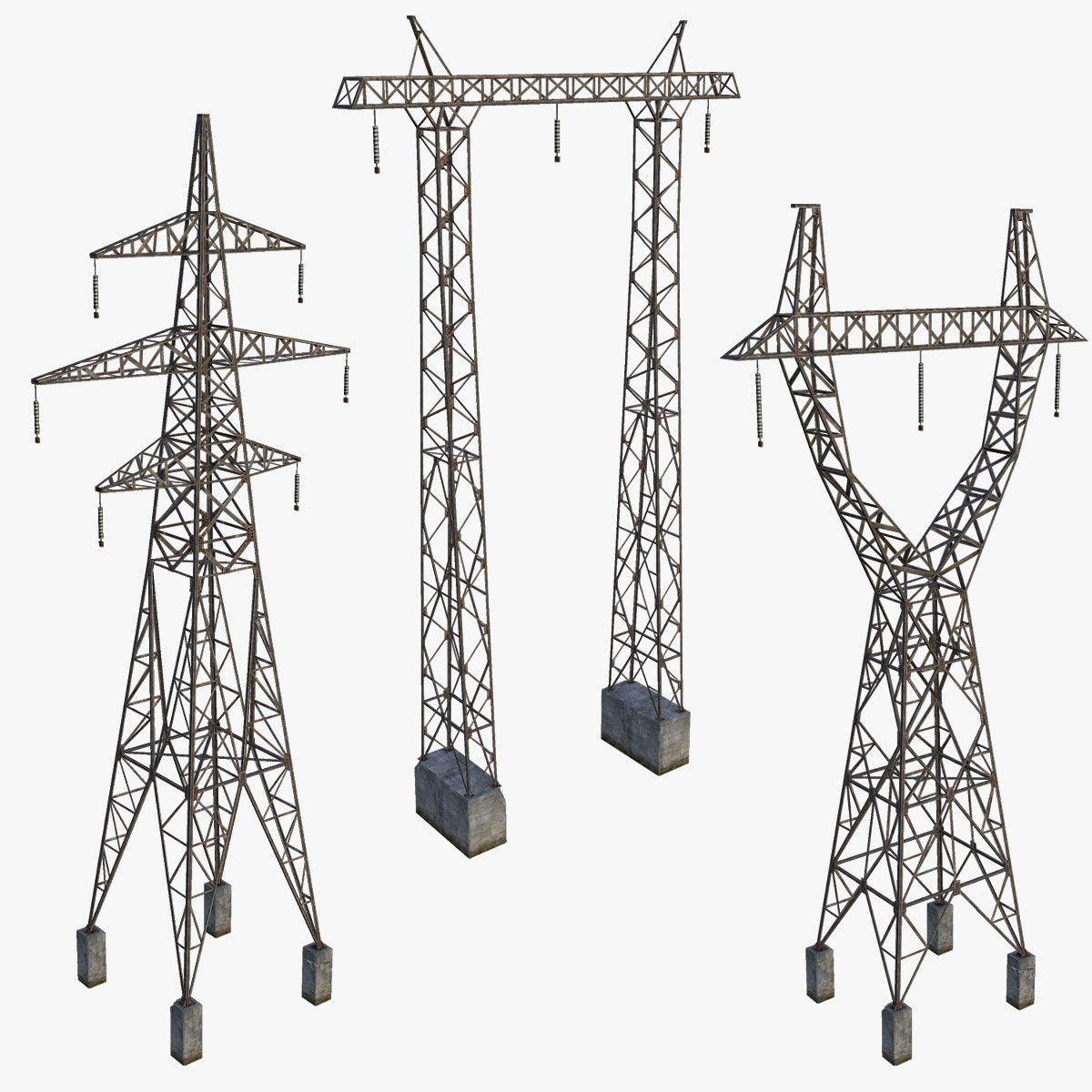 3d Model Set Towers