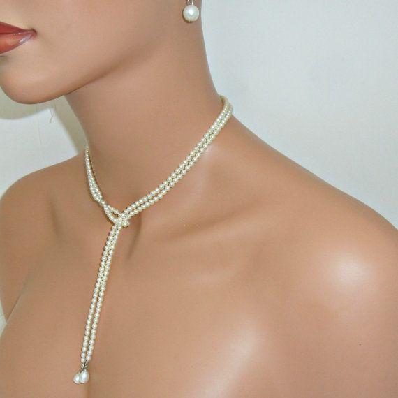 Boda collar de perlas de marfil por mmanach en Etsy, $90.00