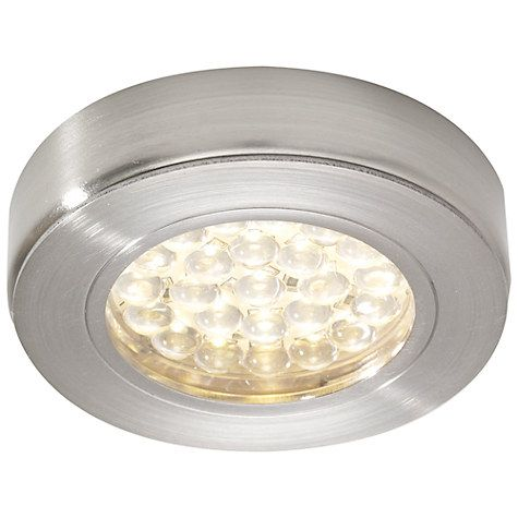 finest selection c3414 a06fd John Lewis & Partners Warm LED Circular Flat Under Cabinet ...