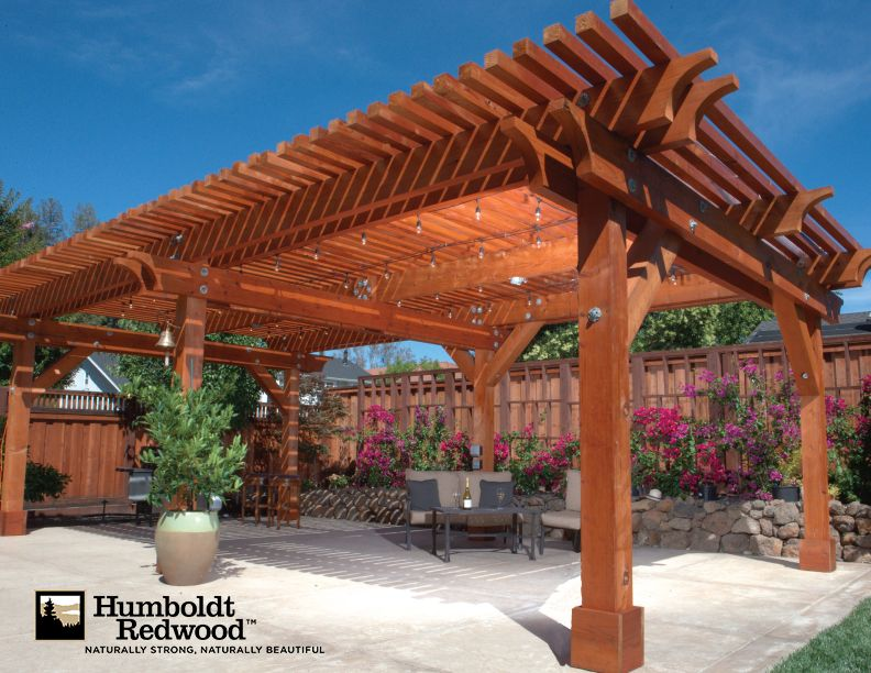 Pergolas And Shade Structures | Humboldt Redwood Projects