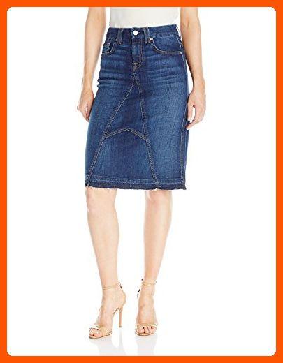 117839c9d4 7 For All Mankind Women's Knee Length Skirt with Released Hem, Eden Port,  24 - All about women (*Amazon Partner-Link)