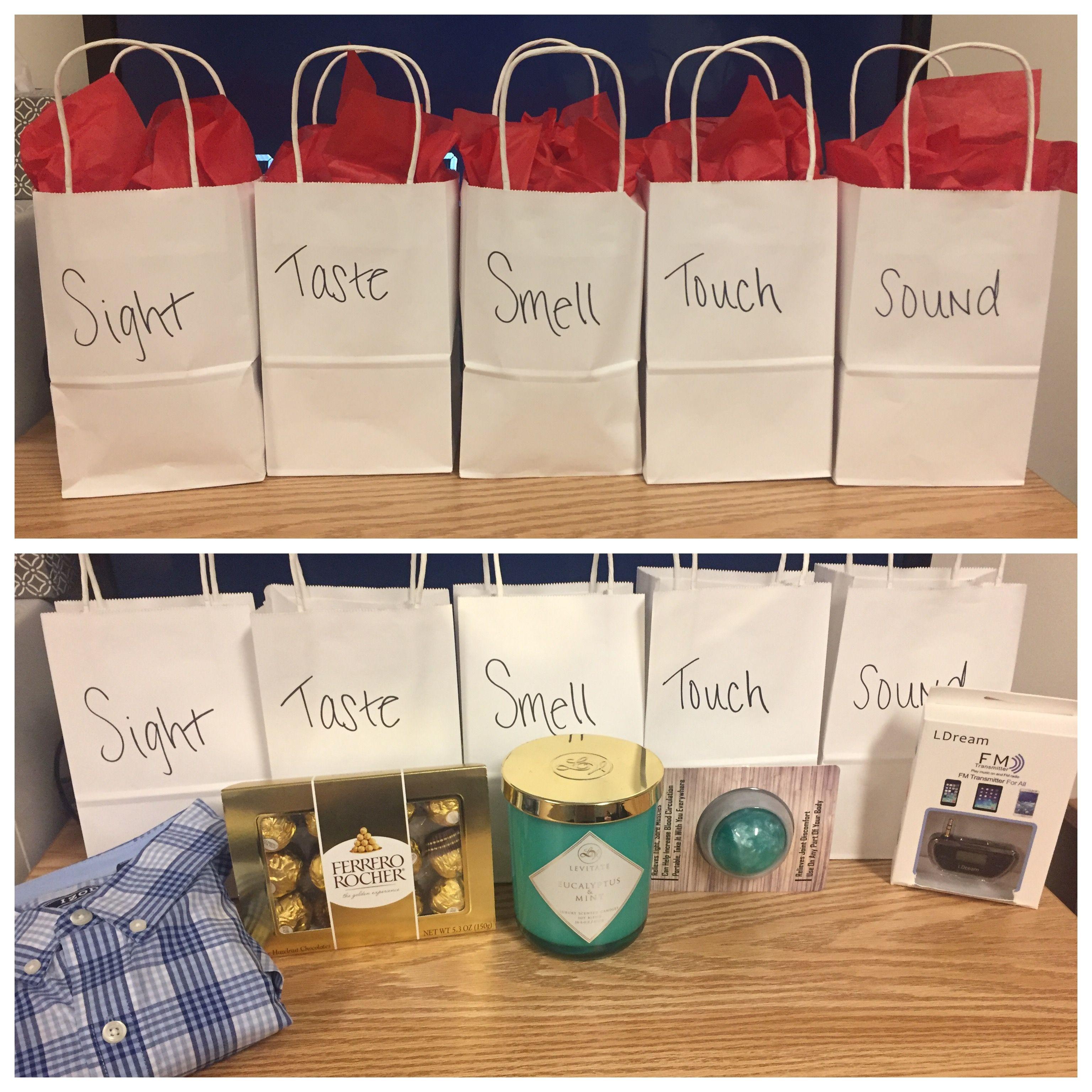 5 senses gift for him valentines 5senses diy gifts for