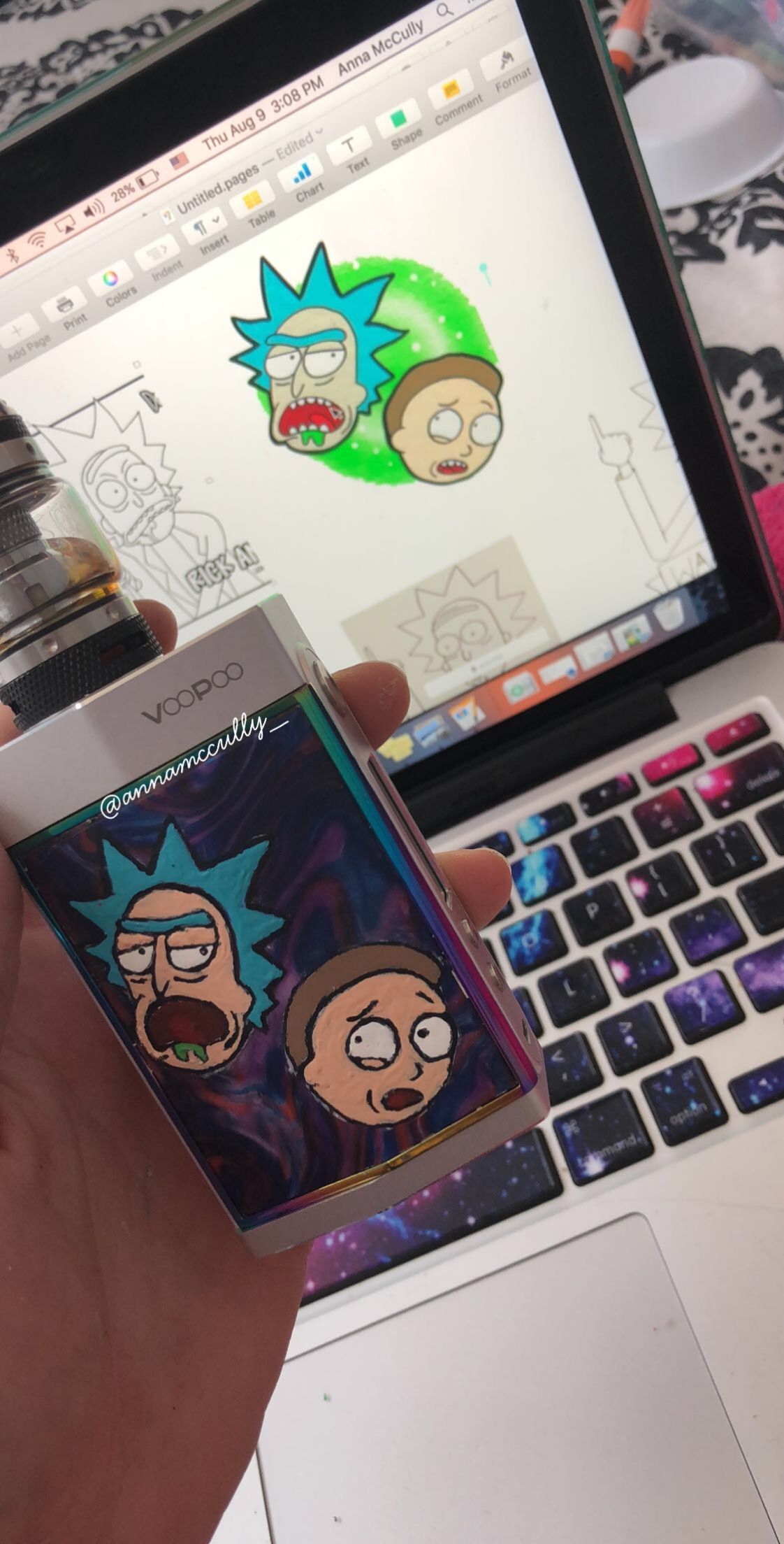 Rick and Morty on a VooPoo Too Mod By Anna McCully