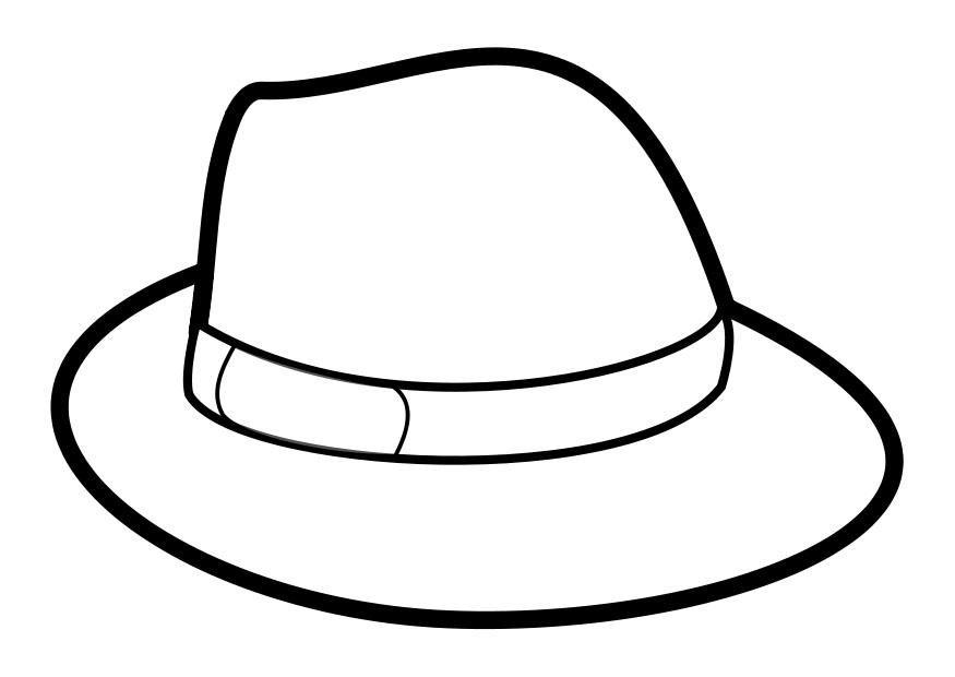 Dibujo para colorear sombrero - Img 27880 | vorlagen | Pinterest ...