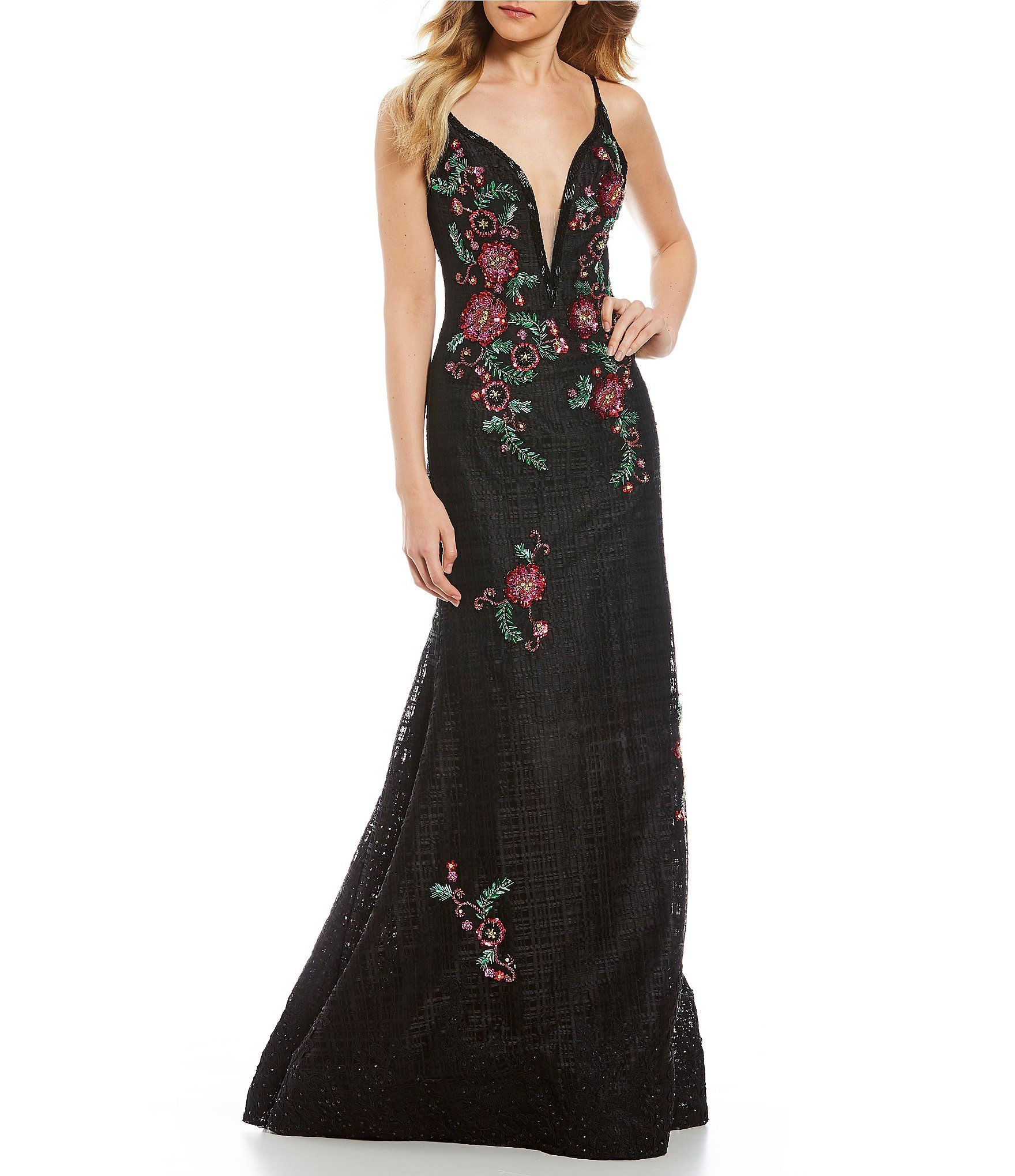 Gb social basketweave floral gown clothes pinterest dillards