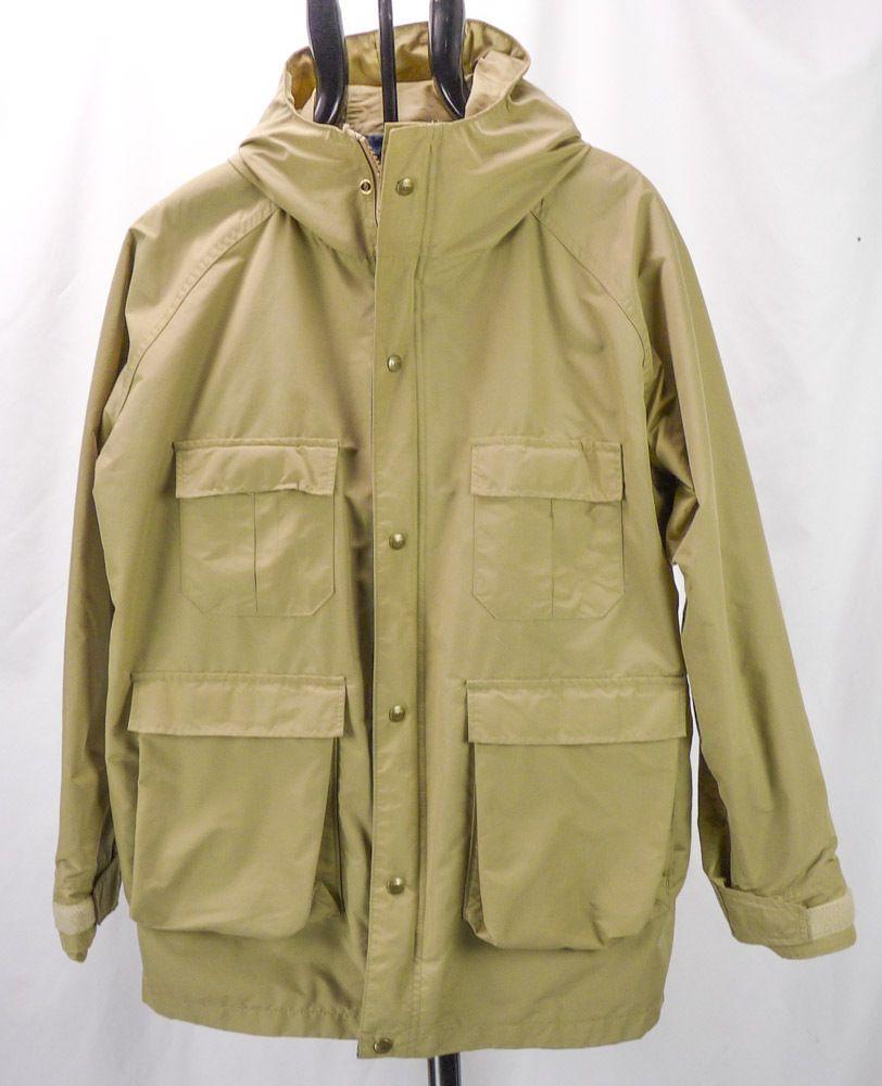 Vintage LL BEAN Baxter State Parka Khaki Nylon Hooded Lightweight Jacket  Mens L - Vintage LL BEAN Baxter State Parka Khaki Nylon Hooded Lightweight
