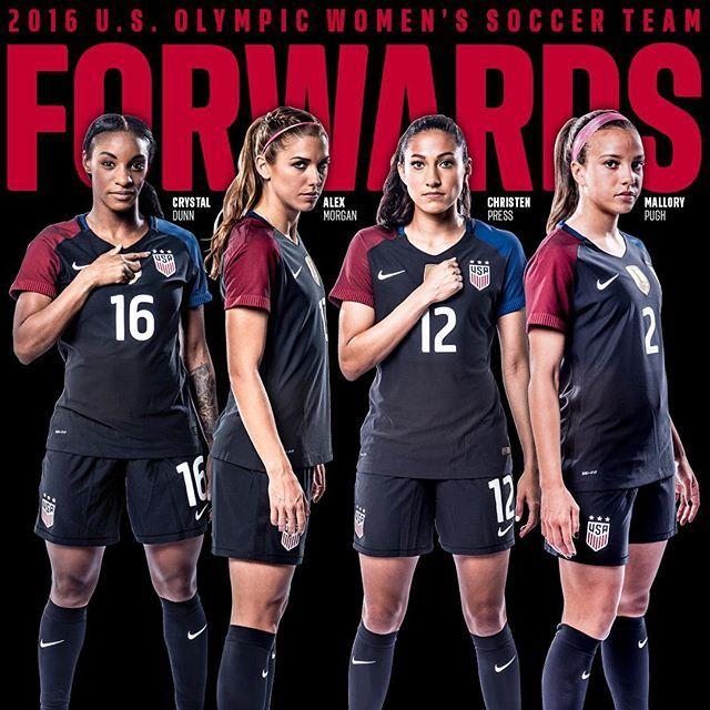 Your 2016 U S Olympic Women S Soccer Team Forwards Onenationoneteam Usa Soccer Women Usa Soccer Team Women S Soccer Team