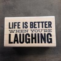 Stempel Life is better when youre 6,3 x 3,8 cm - Kimya verpakkingen