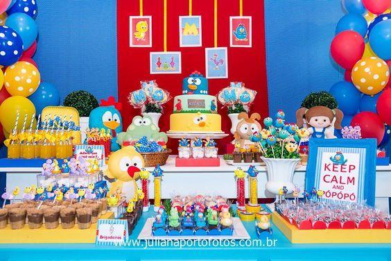Mesa de postres cumple gallina pintadita 14 curso de for Decoracion hogar santiago