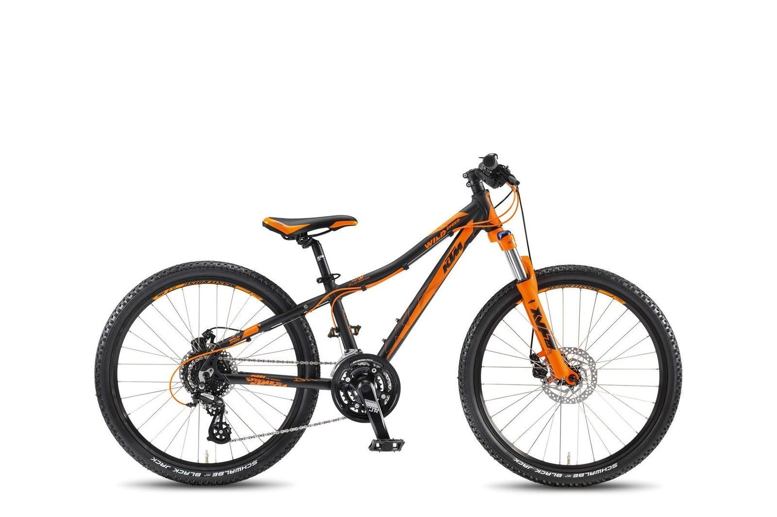 "KTM MTBKid Wild Speed Disc 24"" schwarz matt orange RH 31"