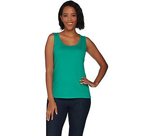 3adc641b7ef Isaac Mizrahi Live! Essentials Scoop Neck Tank | Products | Athletic ...