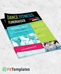 Dance Class Flyer Template For Zumba Fundraiser On Fittemplates