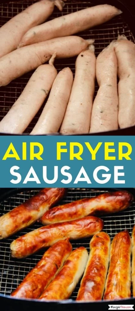 Air Fryer Sausage Recipe How to cook sausage