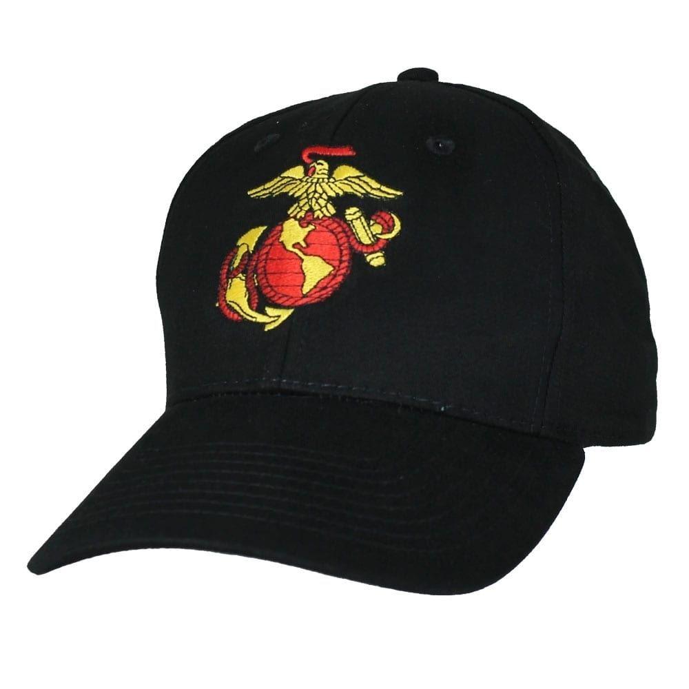 ca3053335 Usmc Black Anchor Globe Military Ball Cap (cotton)   Products ...