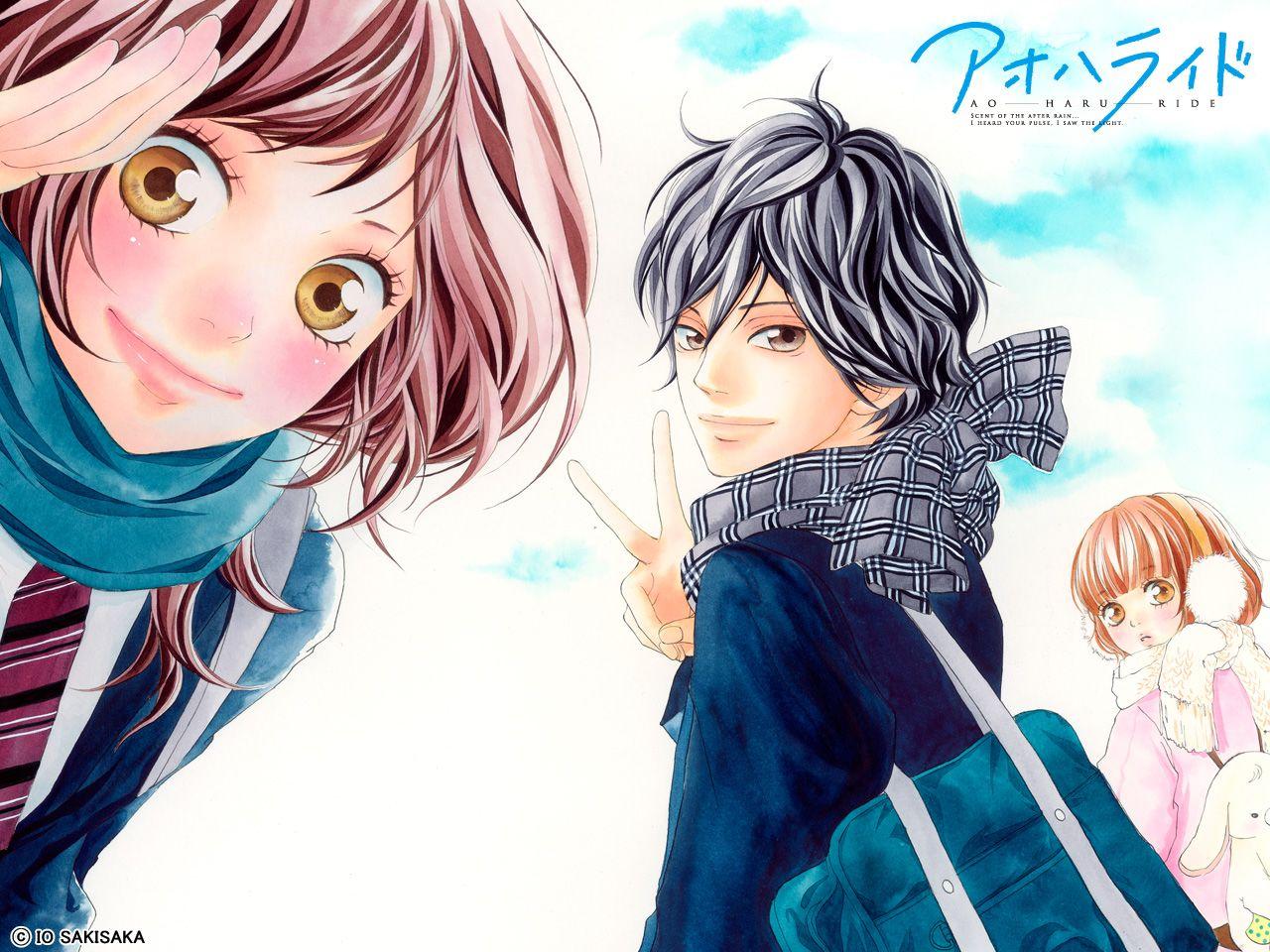 Ao haru ride Wallpaper Anime, Sakura manga, Animes shoujos