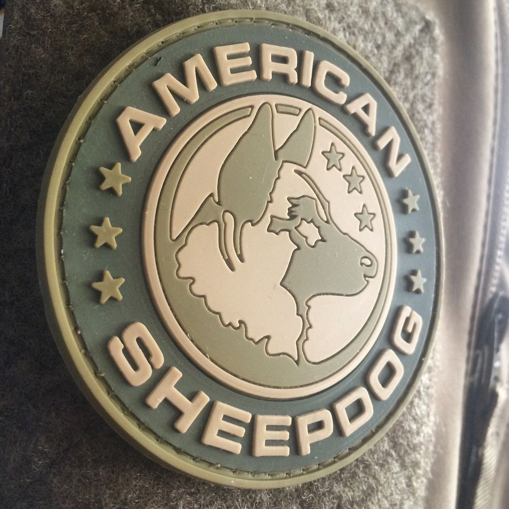 Morale Patch Sheepdog Milspec Police Military Thin Blue