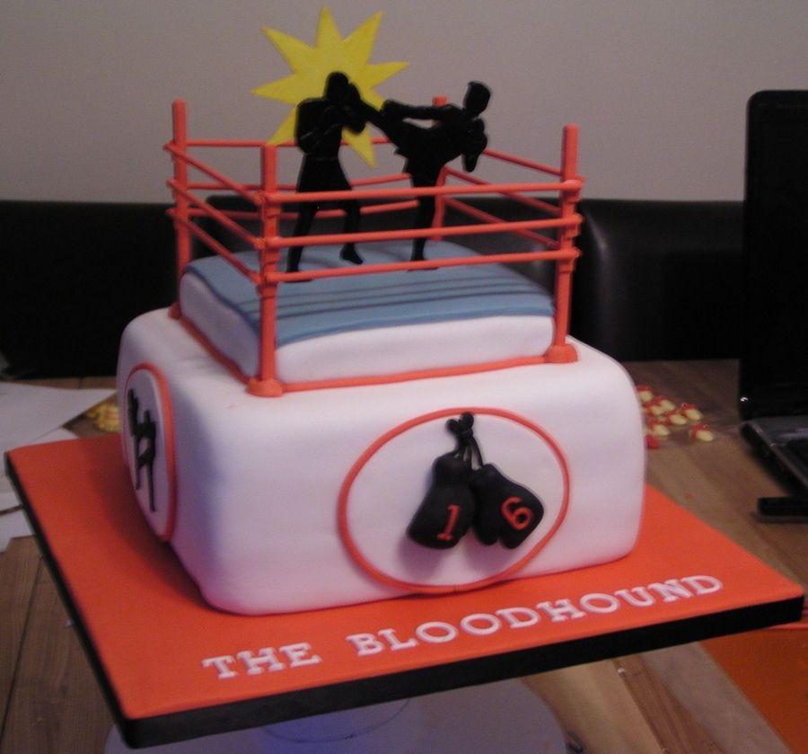 Kick Boxing Cake Cakes Pinterest Cake Box Cake And Birthday Cake