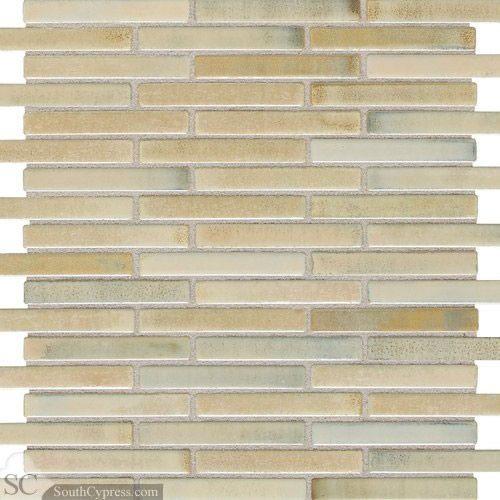 "Shimmer 5/8"" x 3"" - Illumini Sand Random Mosaic By SouthCypress.com"