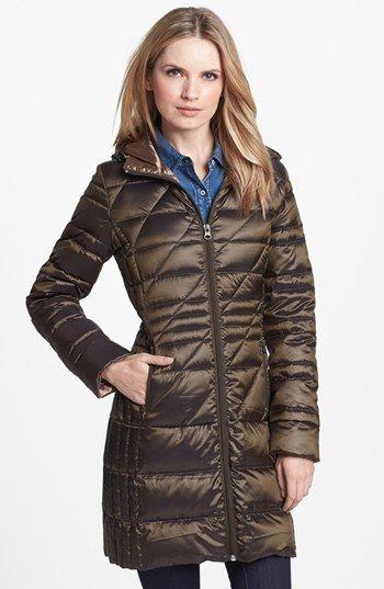 Bernardo Hooded Packable Goose Down Walking Coat (Regular ...