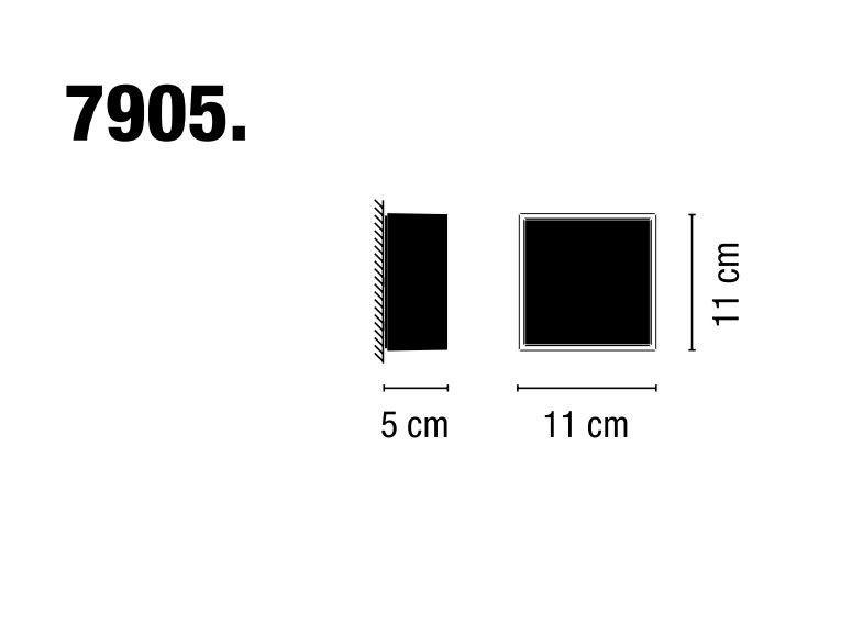 Beta 7905 de #Vibia. Aplique Beta 7905 lacado suave en blanco y negro. Diseño de Ramos & Bassols.