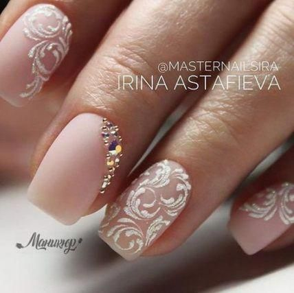 32 ideas bridal nails wedding rhinestones for 2019 nails
