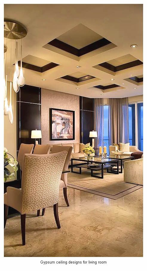 gypsum ceiling designs for living room 7 Interiores Pinterest