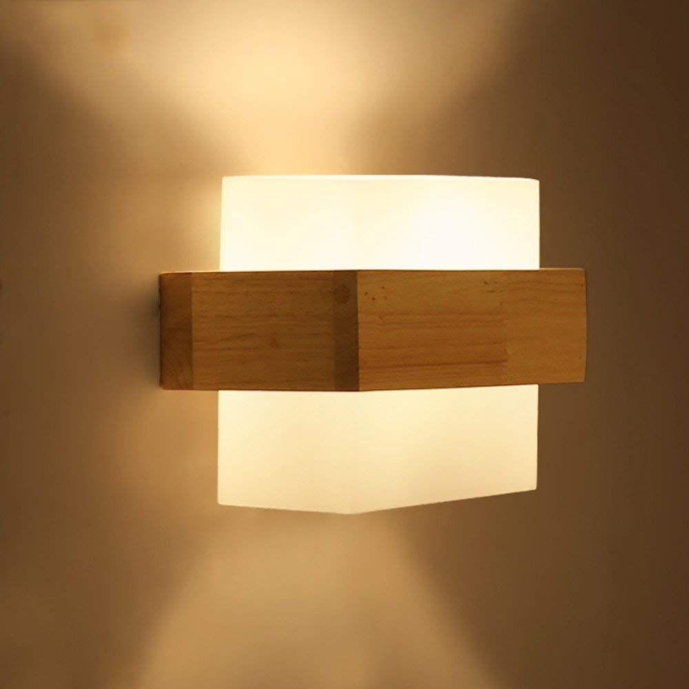 Wall Light The Nordic Creative Wooden Wall Lights Modern Minimalist Living Room Aisle Balcony Led Wooden Bedroom Bed Lamps Amazon Co Uk Li In 2019 Wooden Wall Lights Modern Minimalist Living Room Minimalist
