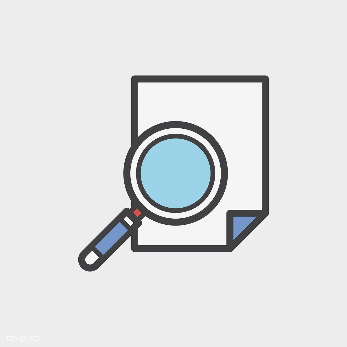Illustration of magnifying glass icon free image by