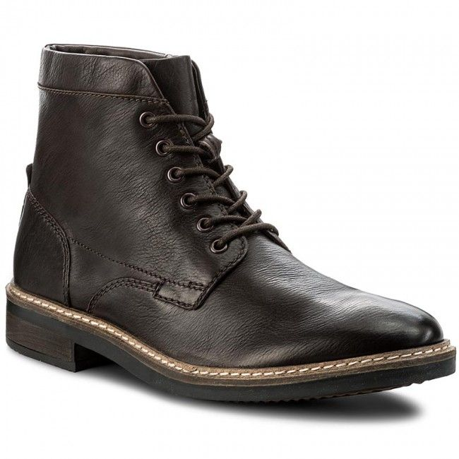 Kozaki CLARKS - Blackford Hi 261281447 Dark Brown Leather