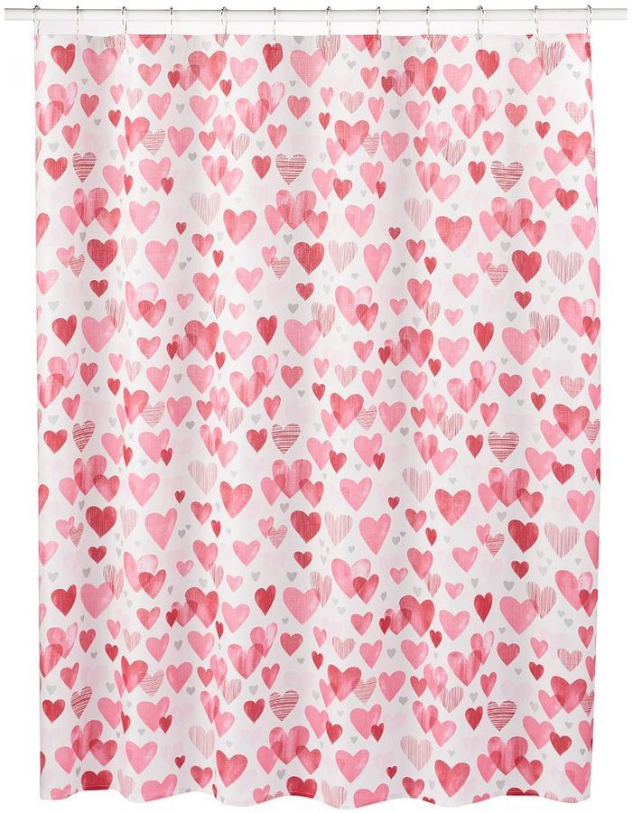 Celebrate Valentines Day Hearts Shower Curtain