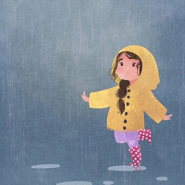 Enjoying the rain today 🌧️ this is a little drawing from quite a few weeks ago, been busy with school and other projects 😊    #digitalart #illustration #characterdesign #art #visualdevelopment #doodleoftheday #doodle #sketch #photoshop #landscape #childrensbook #kidlit #childrensliterature #landscape #conceptart #speedpaint #rain #puddles