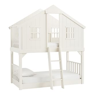 Tree House Bunk Twin Vintage Simply White Products Pinterest