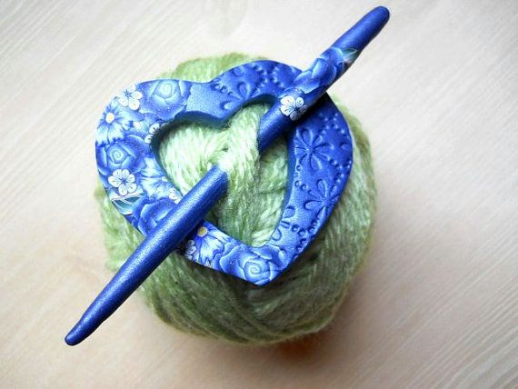 Gorgeous clay shawl pin Etsy listing at https://www.etsy ...